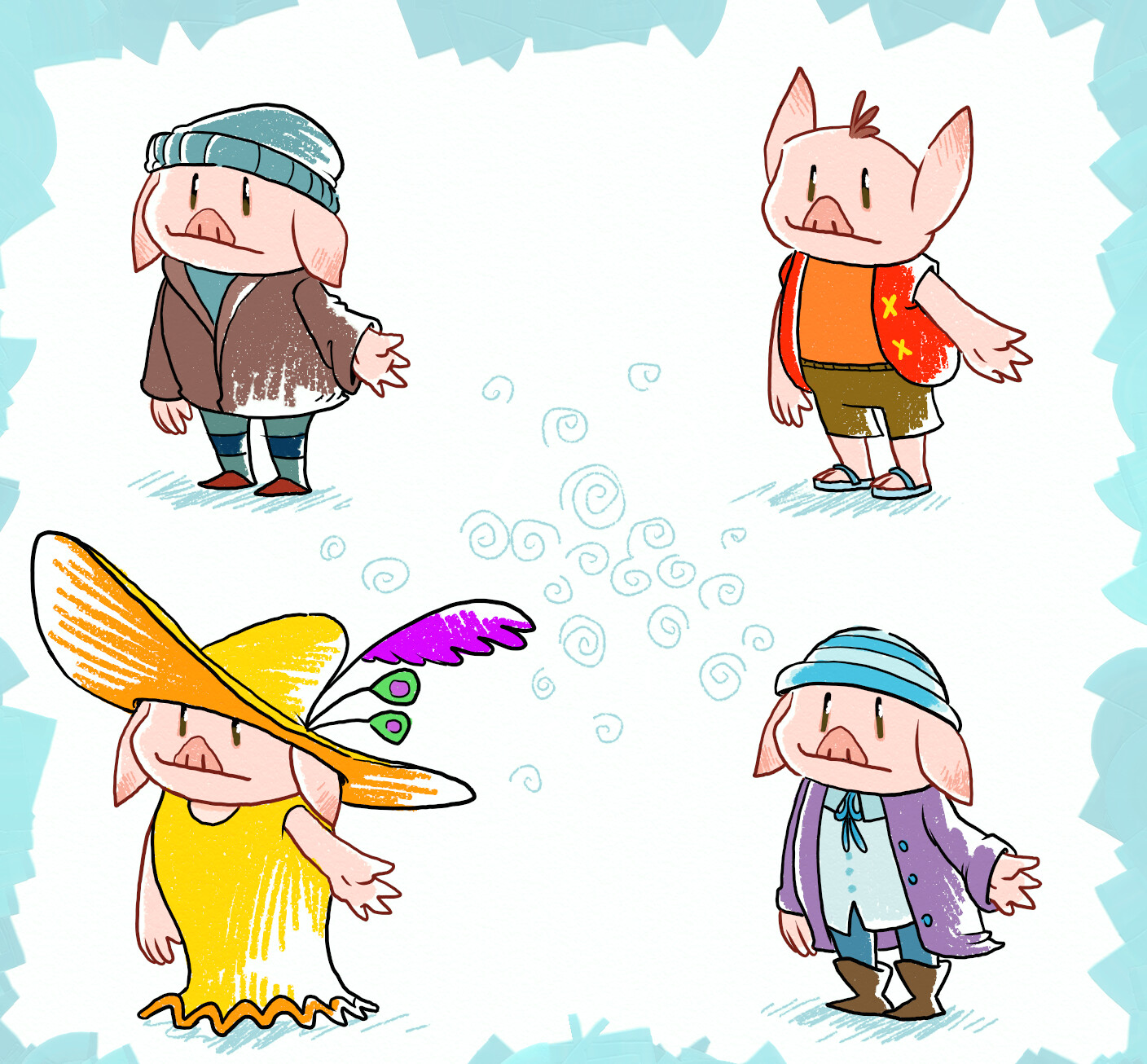 some alternate outfits