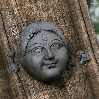 Surajit sen mrinmoyee digital sculpture surajitsen sept2020 ab