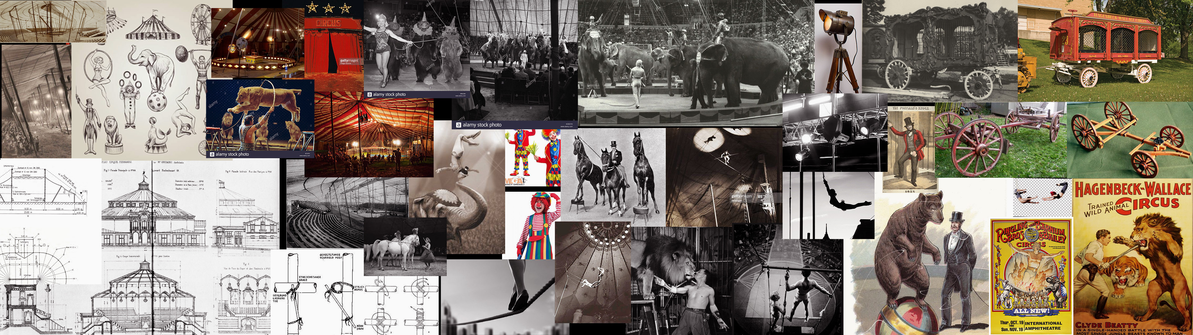 To reconstruct the circus scene in the Cin Ali book for the Cin Ali museum,  I collected some references. From  architecture to costumes, seats to circus wagon, it was very fun to research 🤓