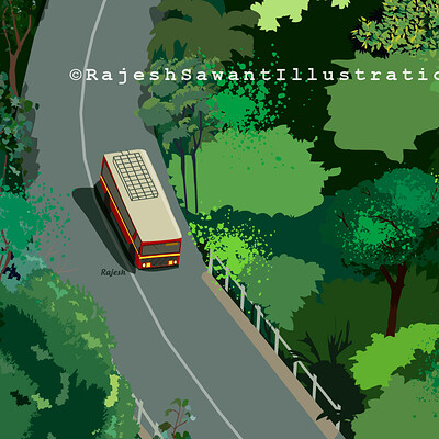 Rajesh r sawant bus in konkan ghats zoom 2020 01