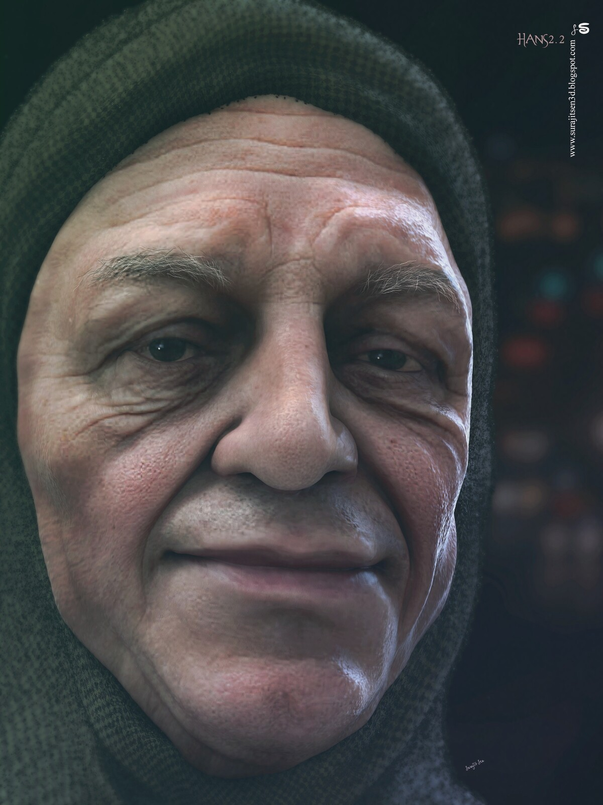 Hans2.2 One of my free time r&d works. CG Character. Background music- #hanszimmermusic