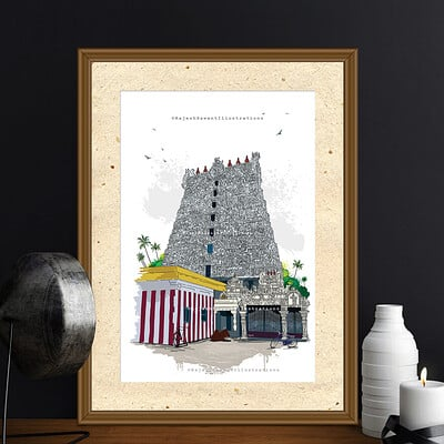 Rajesh r sawant suchindrum temple mockup