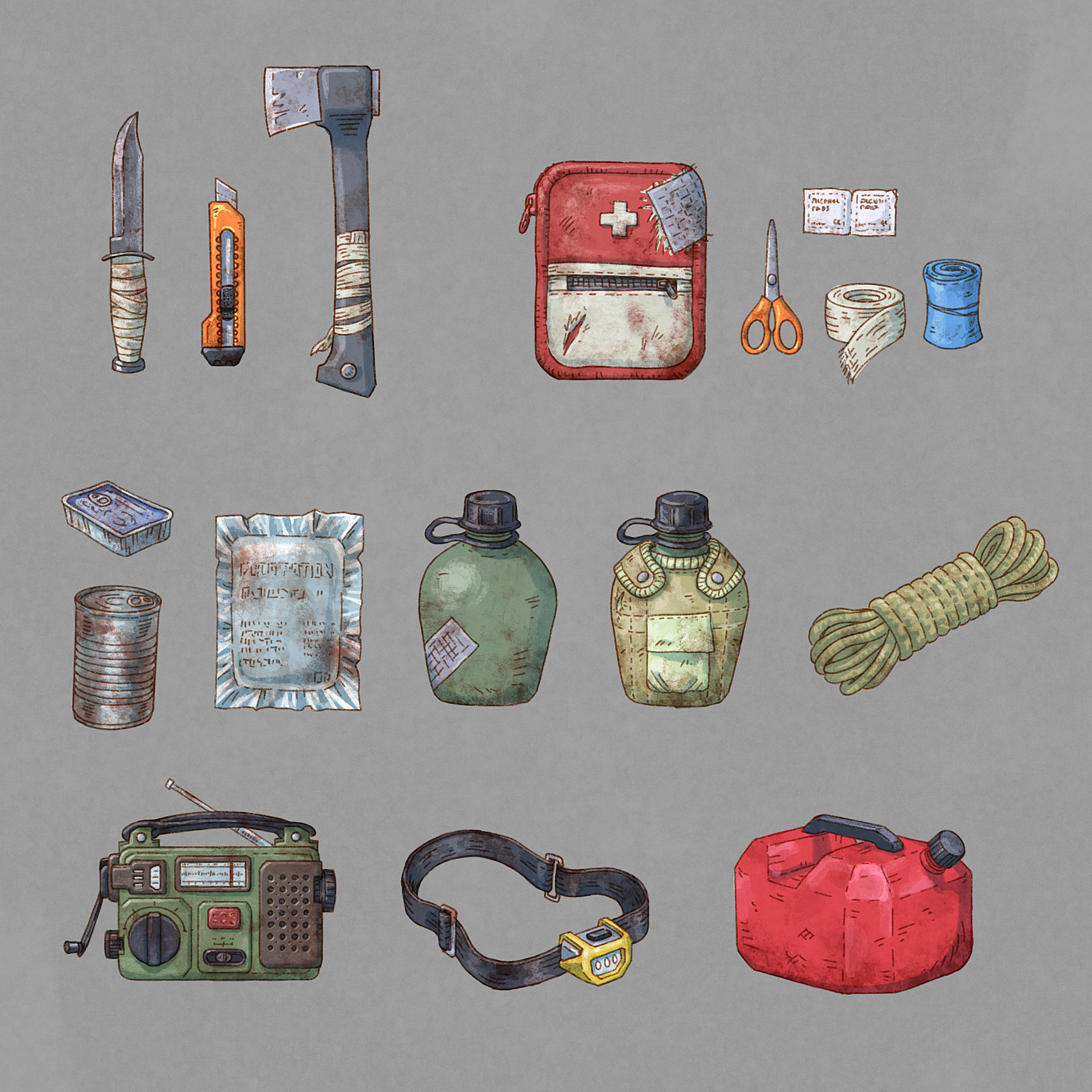 Some items for surviving the nuclear hellscape