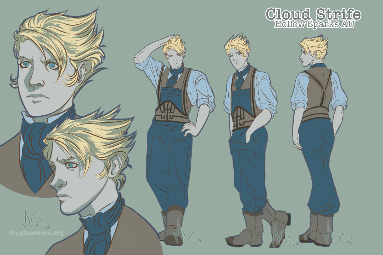 Fan Art: Cloud Strife - Hollow Sparks AU - Final Fantasy VII: Remake