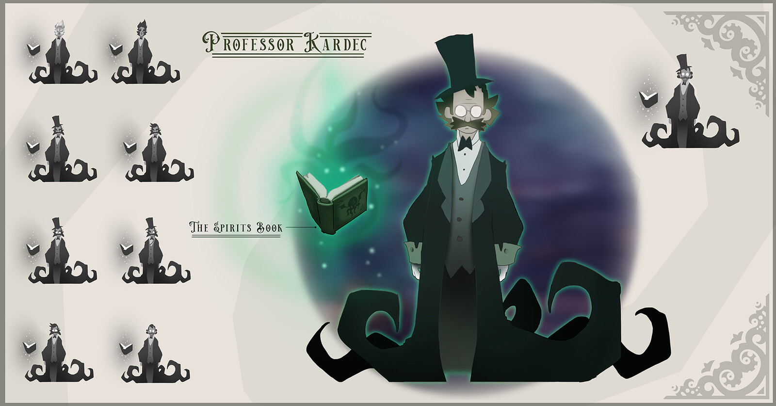 """The antagonist of the """"game"""", Professor Kardec."""