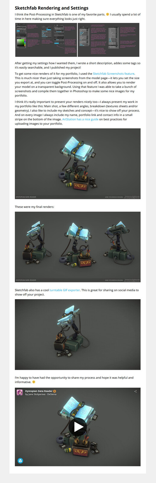 Check out the full article with links and gifs: https://sketchfab.com/blogs/community/art-spotlight-dystopian-data-reader/