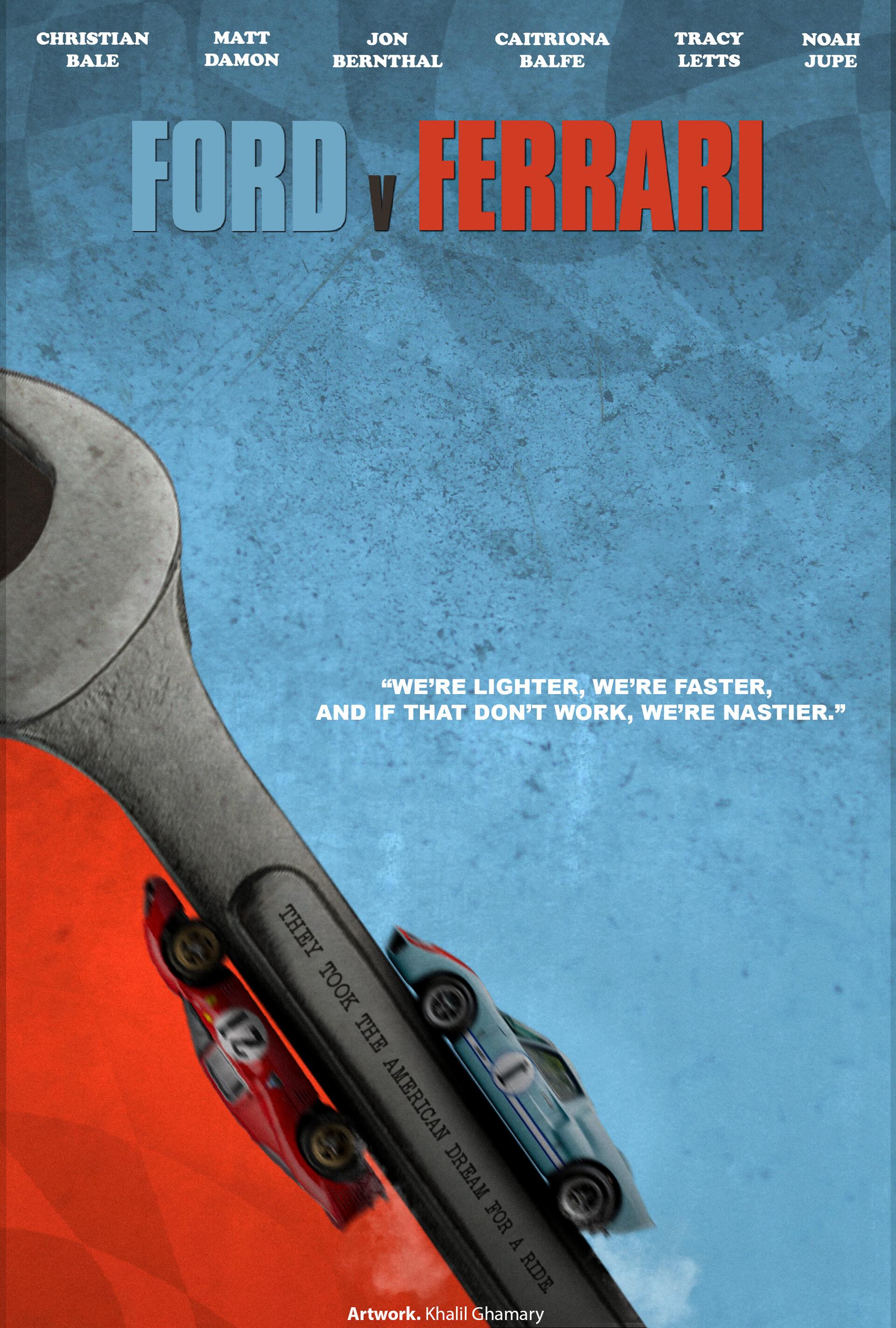 Artstation Ford V Ferrari Minimalist Movie Poster Khalil Ghamary Mkg