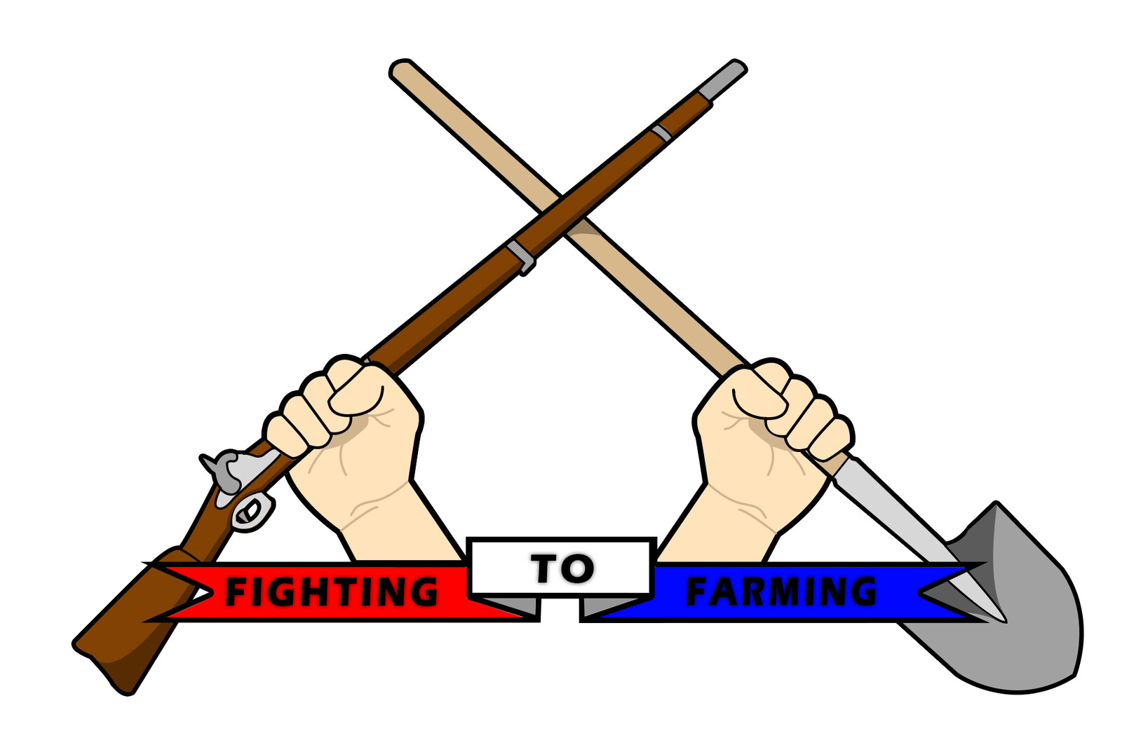 The second F2F logo concept (Colored Musket Version)