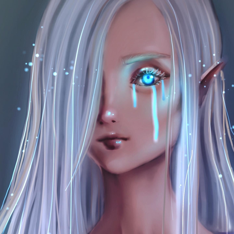 Konstantina Antoniadou - Anime Elf Girl semi realistic Portrait