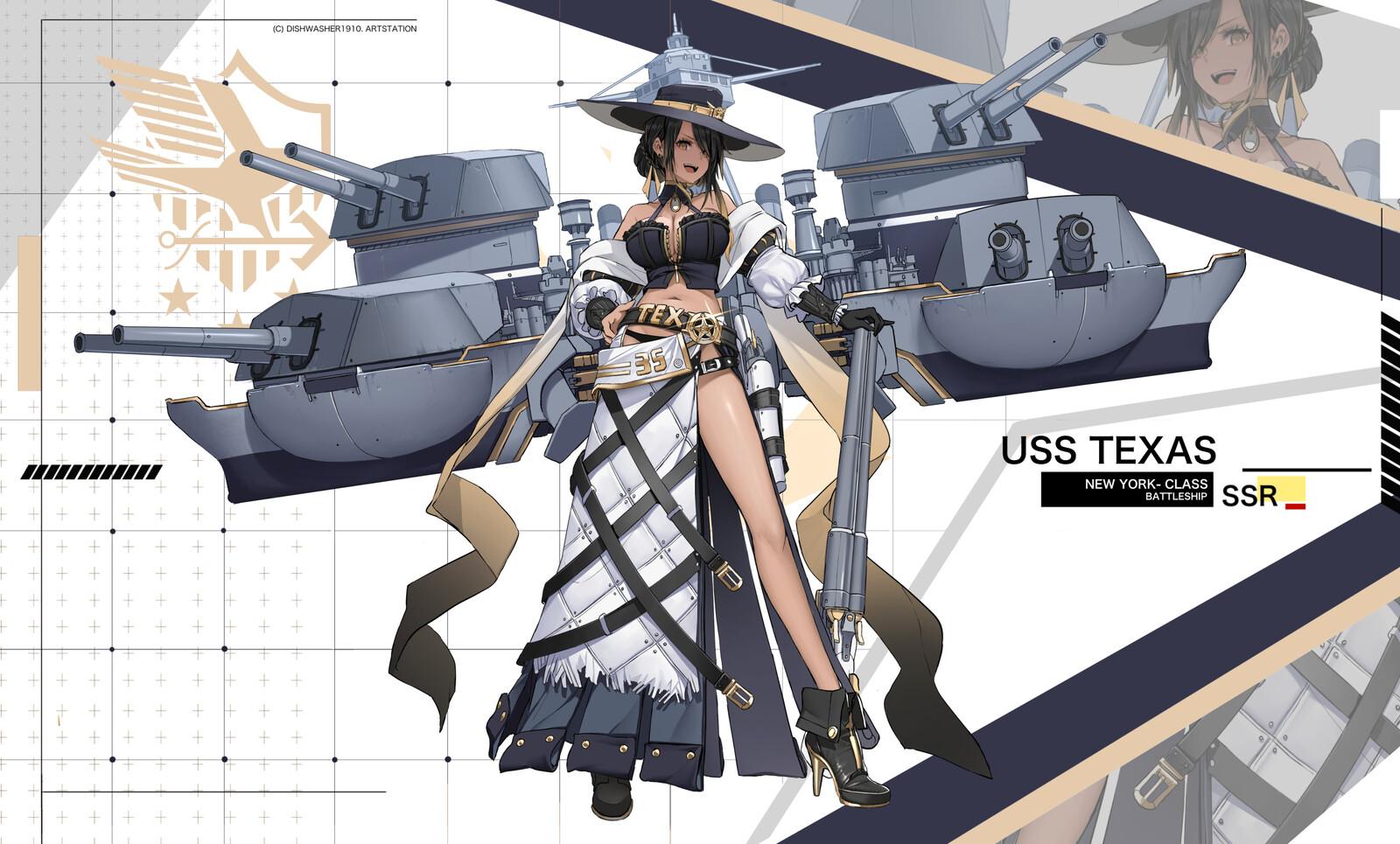 Azurlane OC design : USS Texas