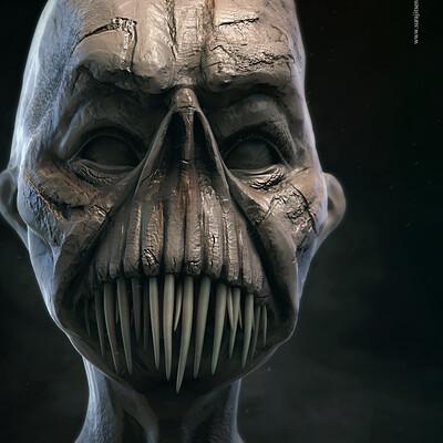 Surajit sen evil digital sculpture surajitsen sept2020ab