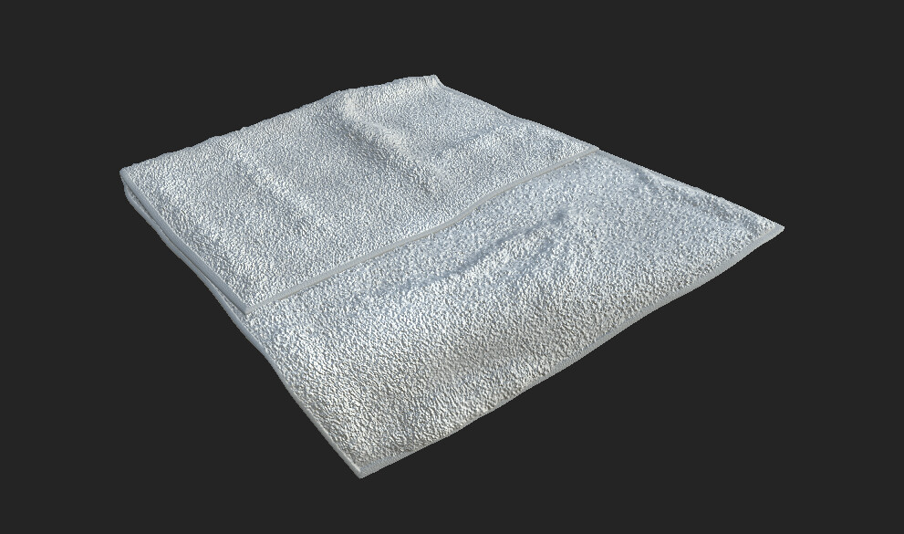 Early test render of the hand towel.