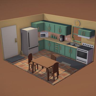 Coby schouten lowpoly kitchen