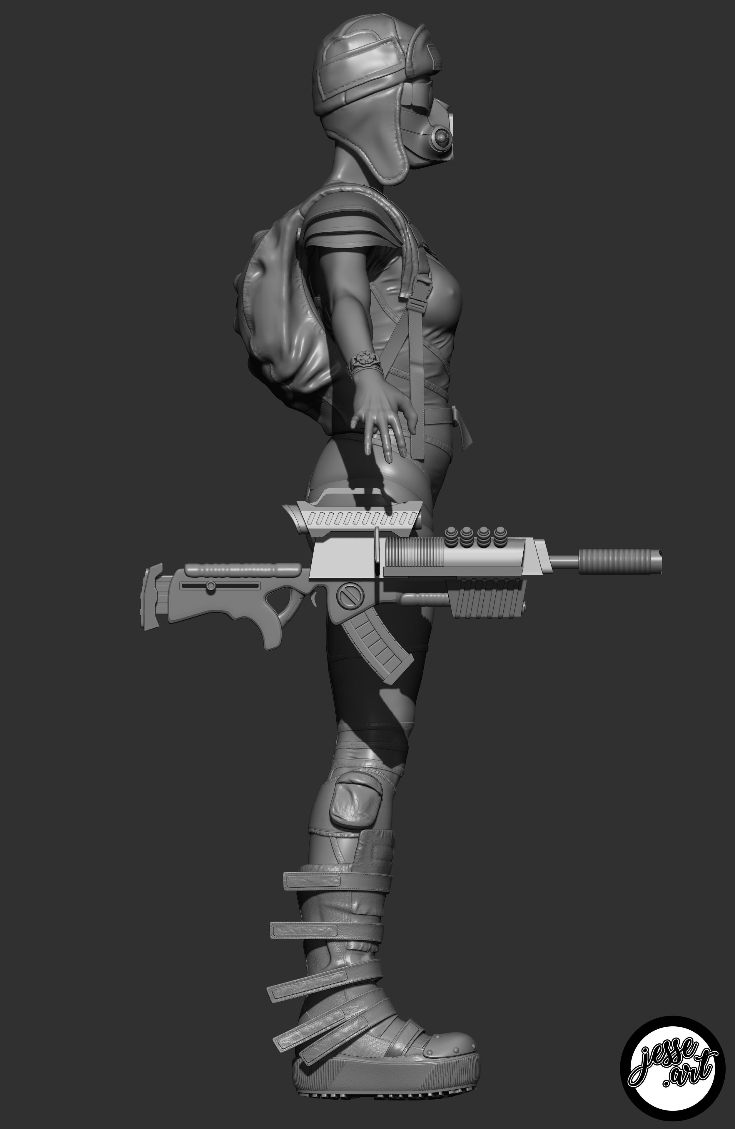 Hi-poly sculpt side