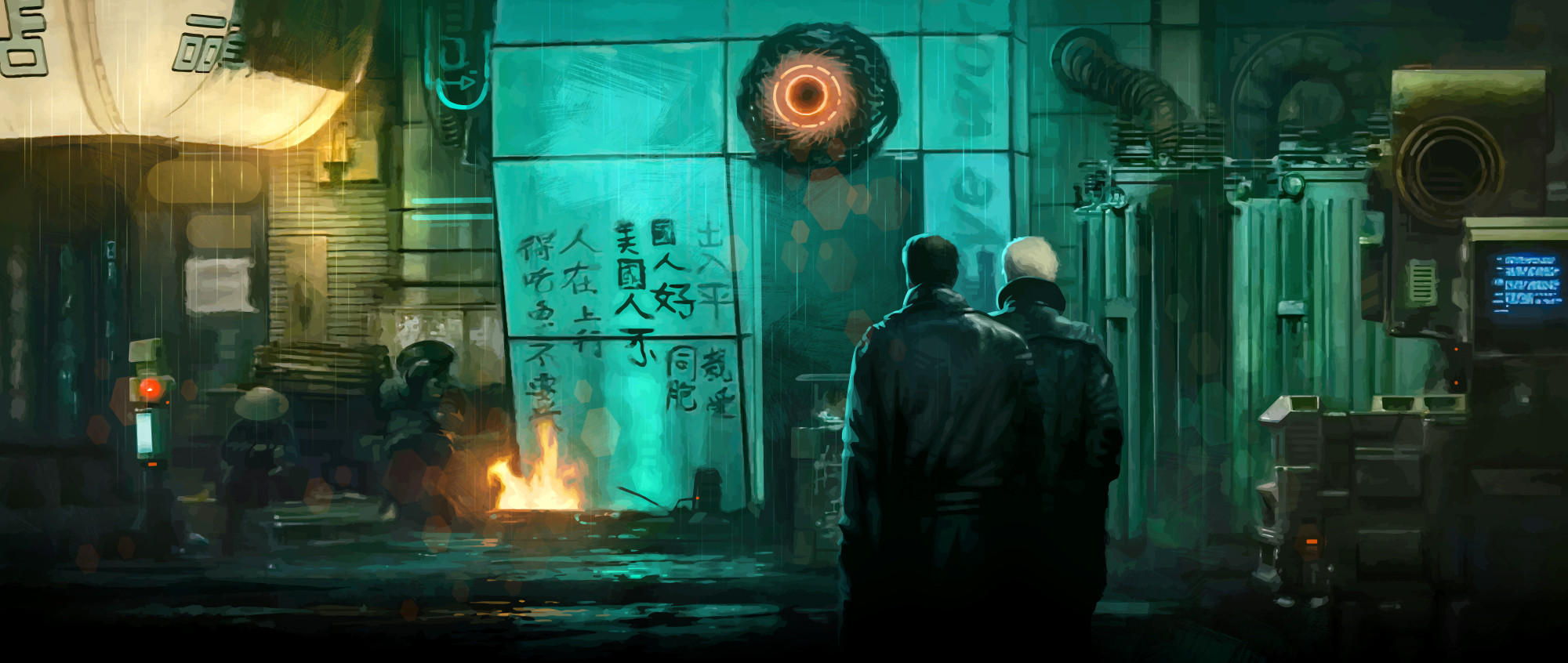 Roy and Leon visit Chew (Blade Runner)
