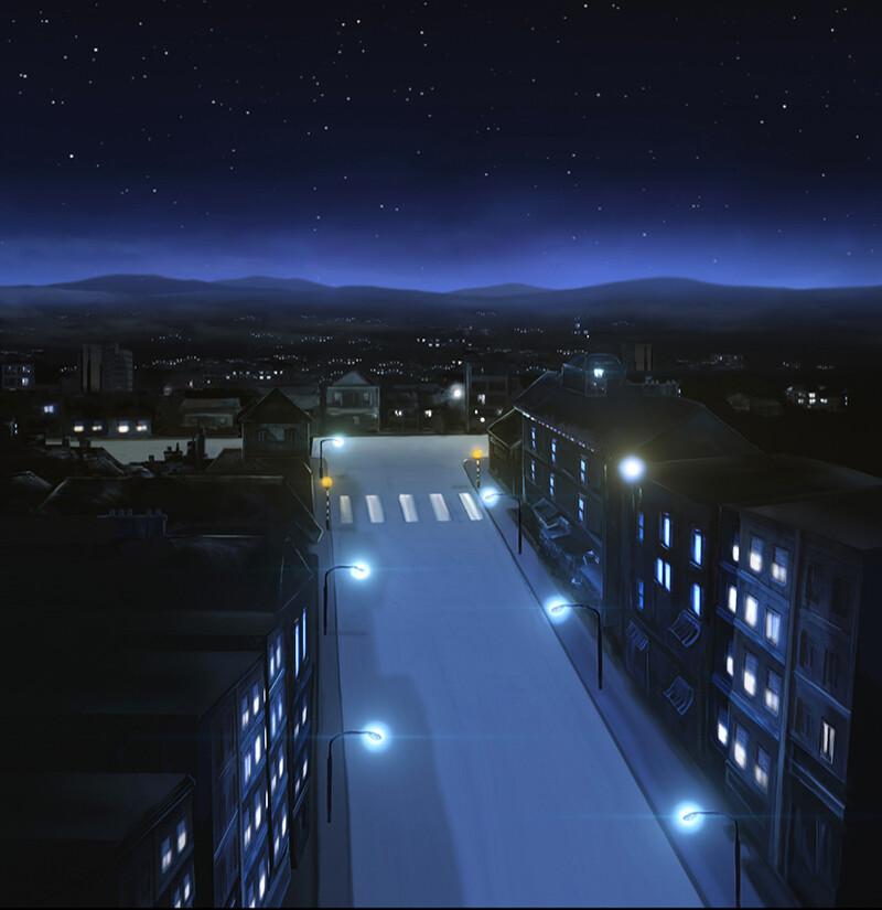City - Night - Establishing shot  - Laundry Monsters