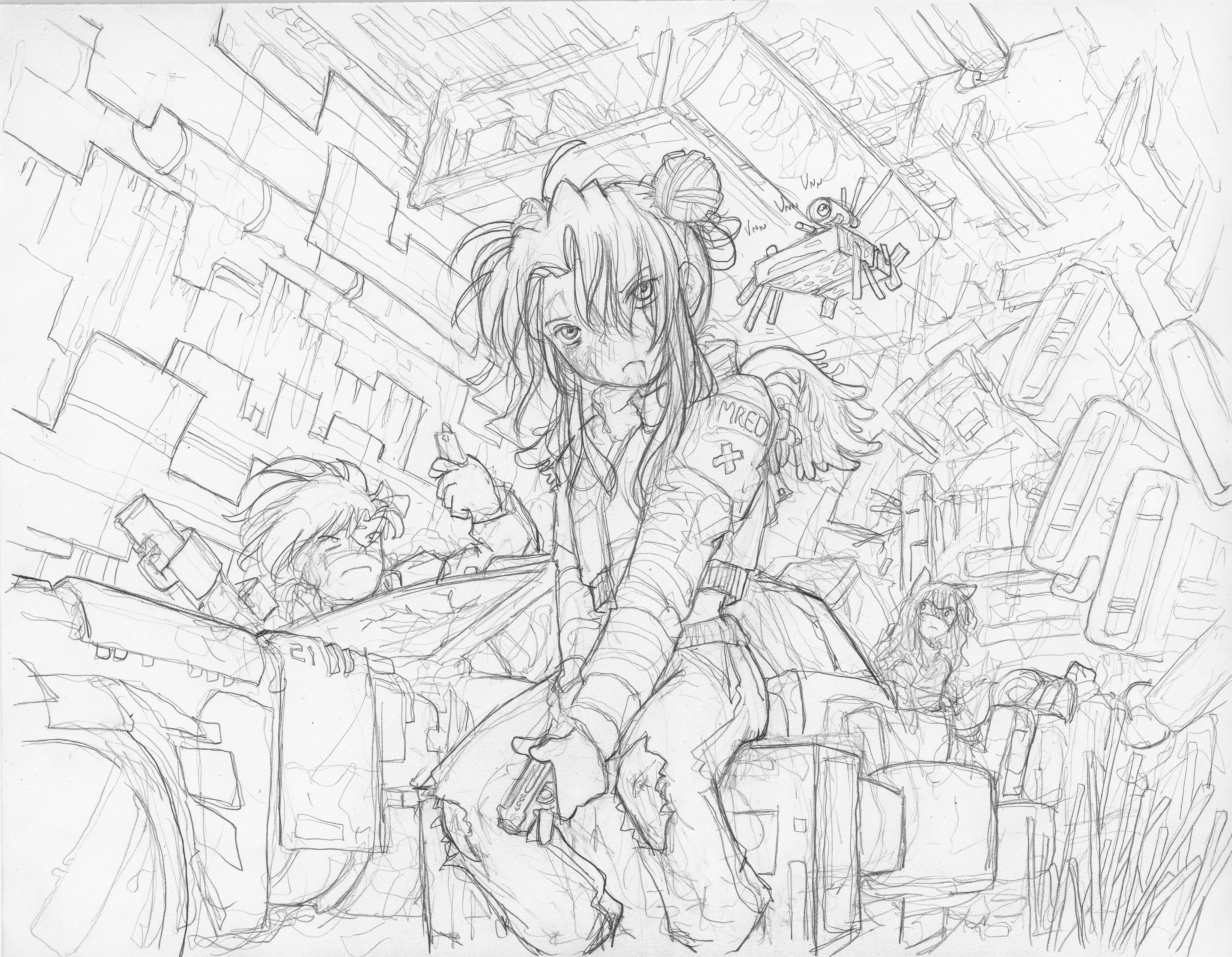 Pencil (HB) on HP Bright White Inkjet Paper - sketch out