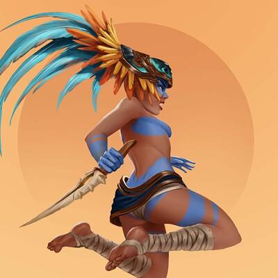 Thomas brizard aztek warrior27