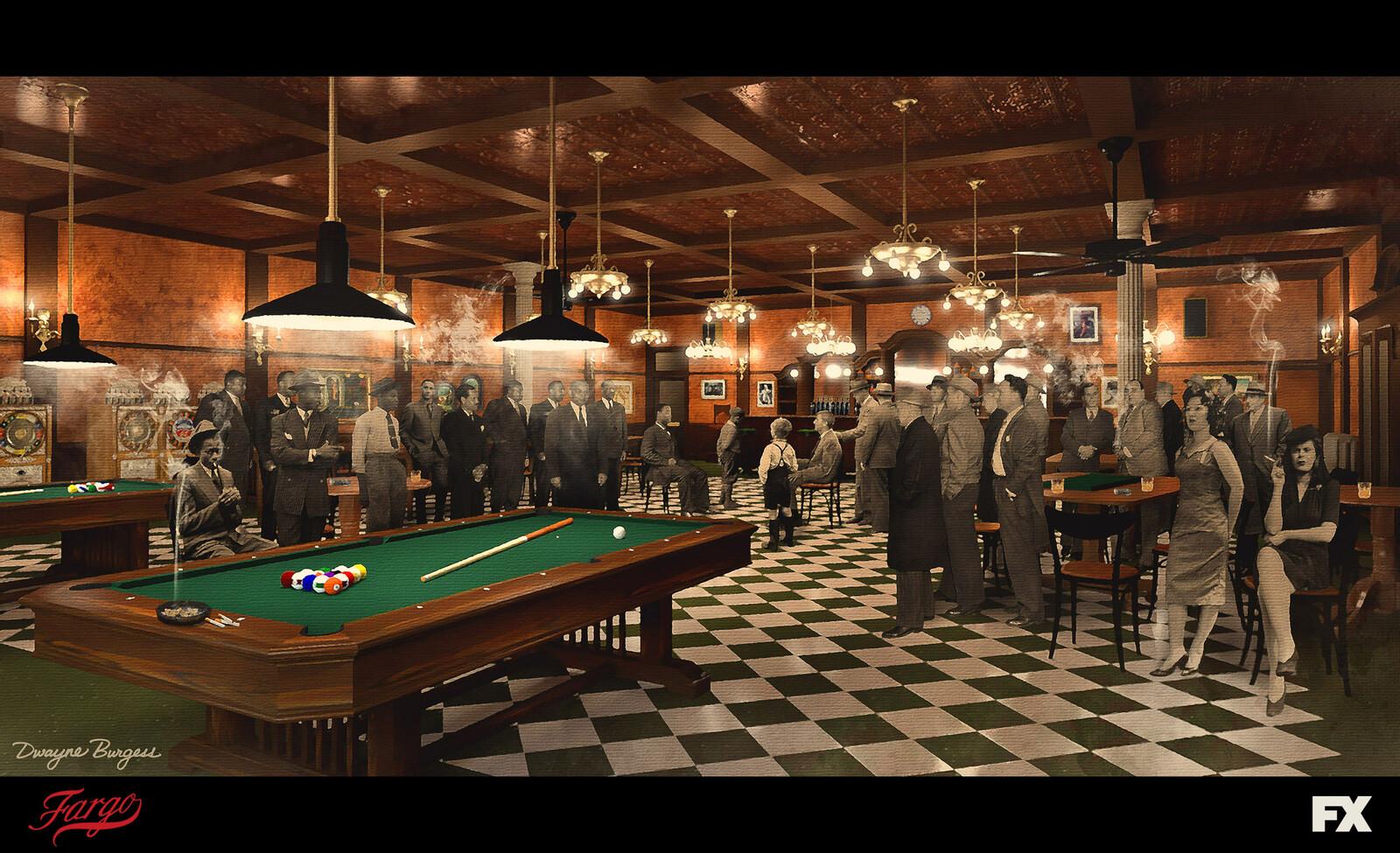 Fargo Season 4 - Jackson Democratic Club Interiors