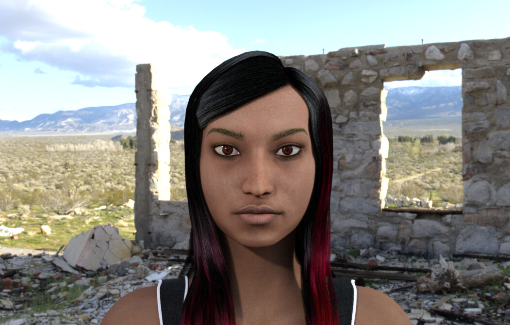 Wanik 3D Digital Human designed and rigged by MoniGarr for immersive tech projects: animations, vr, ar, mr, xr, 360, films...