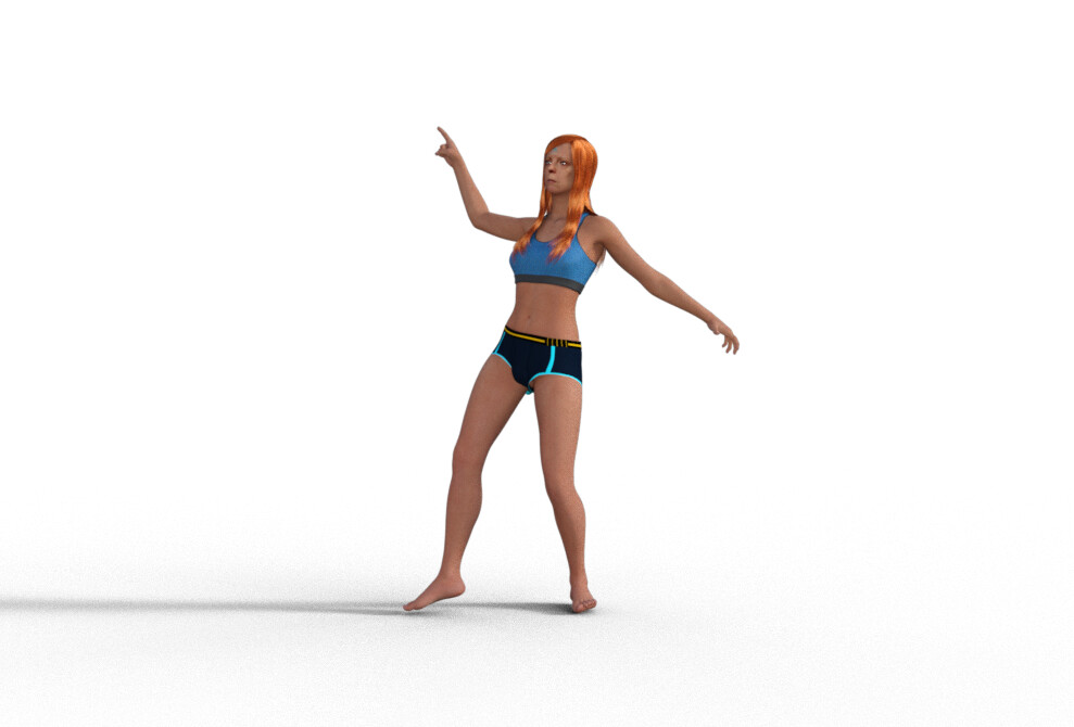MoniGarr 3D Digital Human designed for xr projects: 360, animations, film, vr, ar, mr...