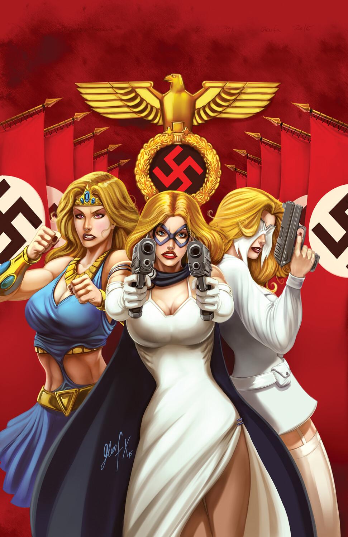 Domino Lady Threesome #1 Cover