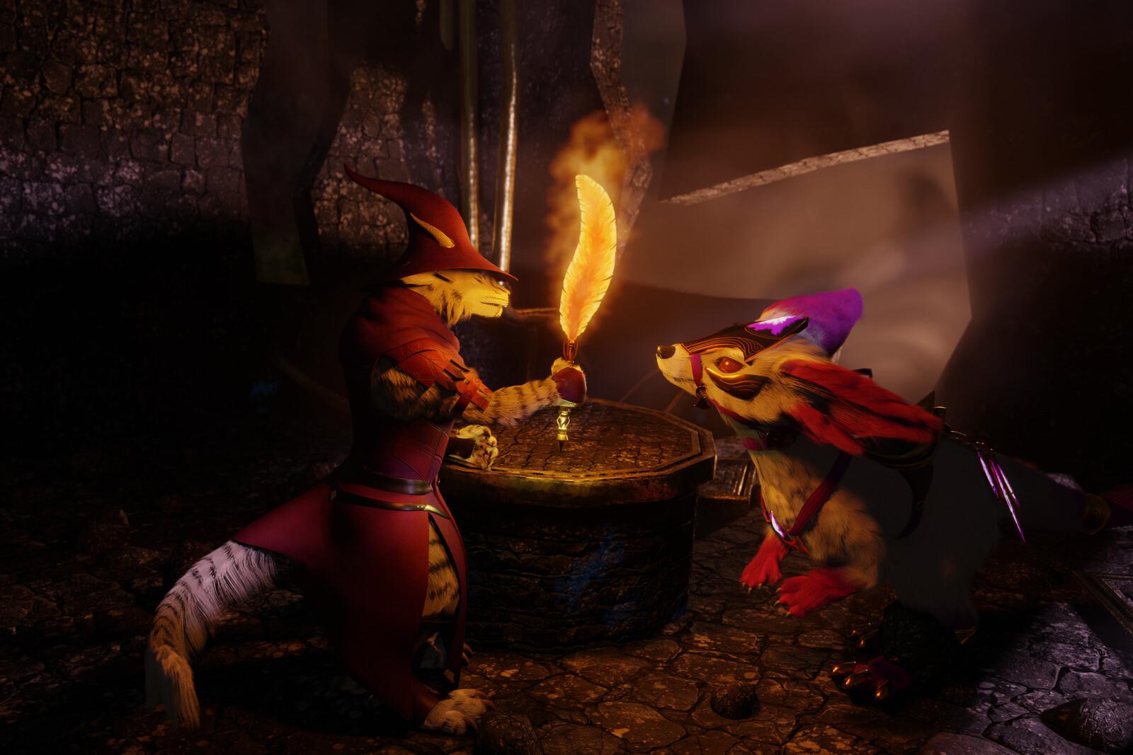 Charrtober 01 - Flame