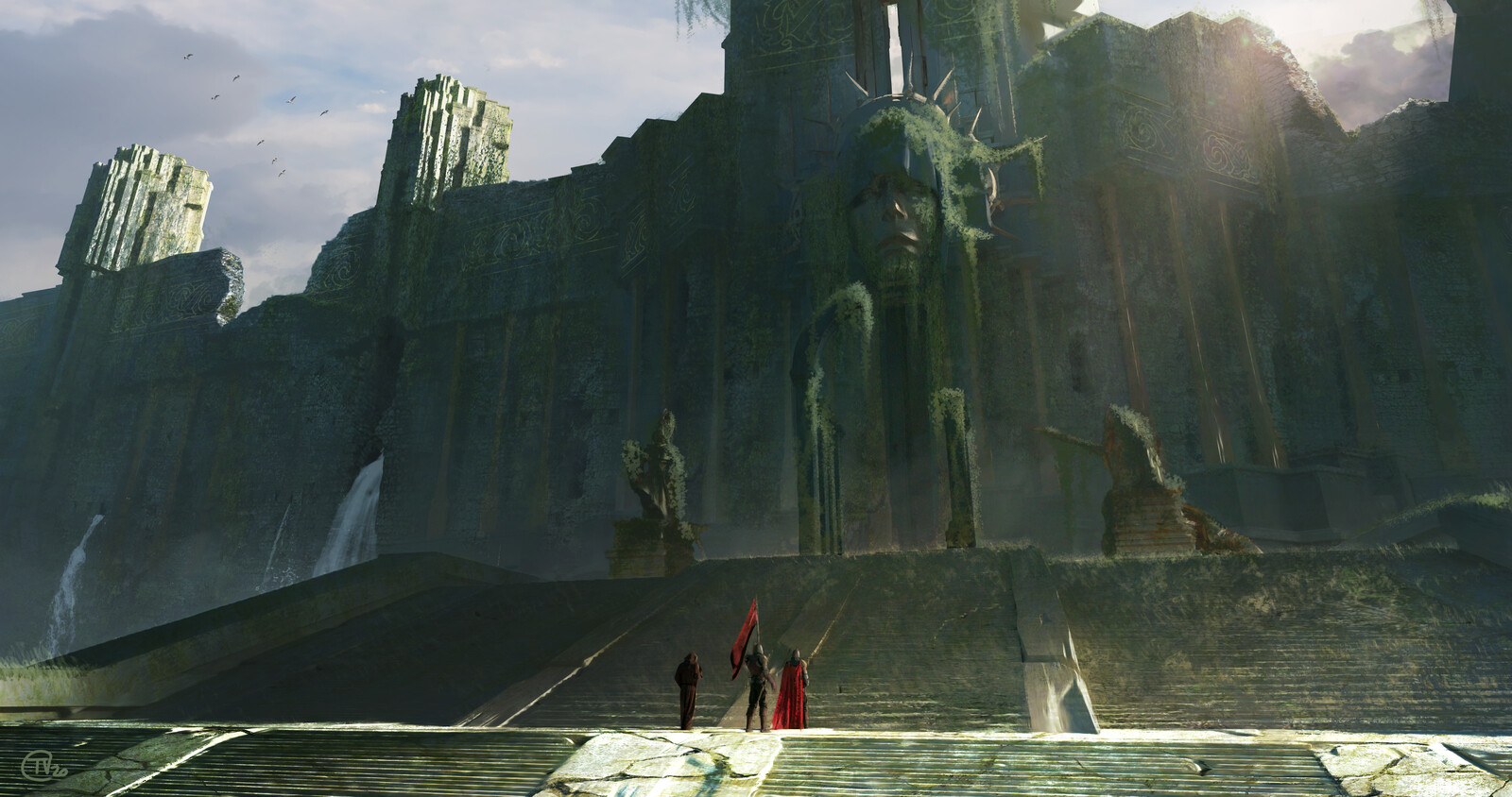 The Crystal Corruption Matte Painting - Shoredenal Keep