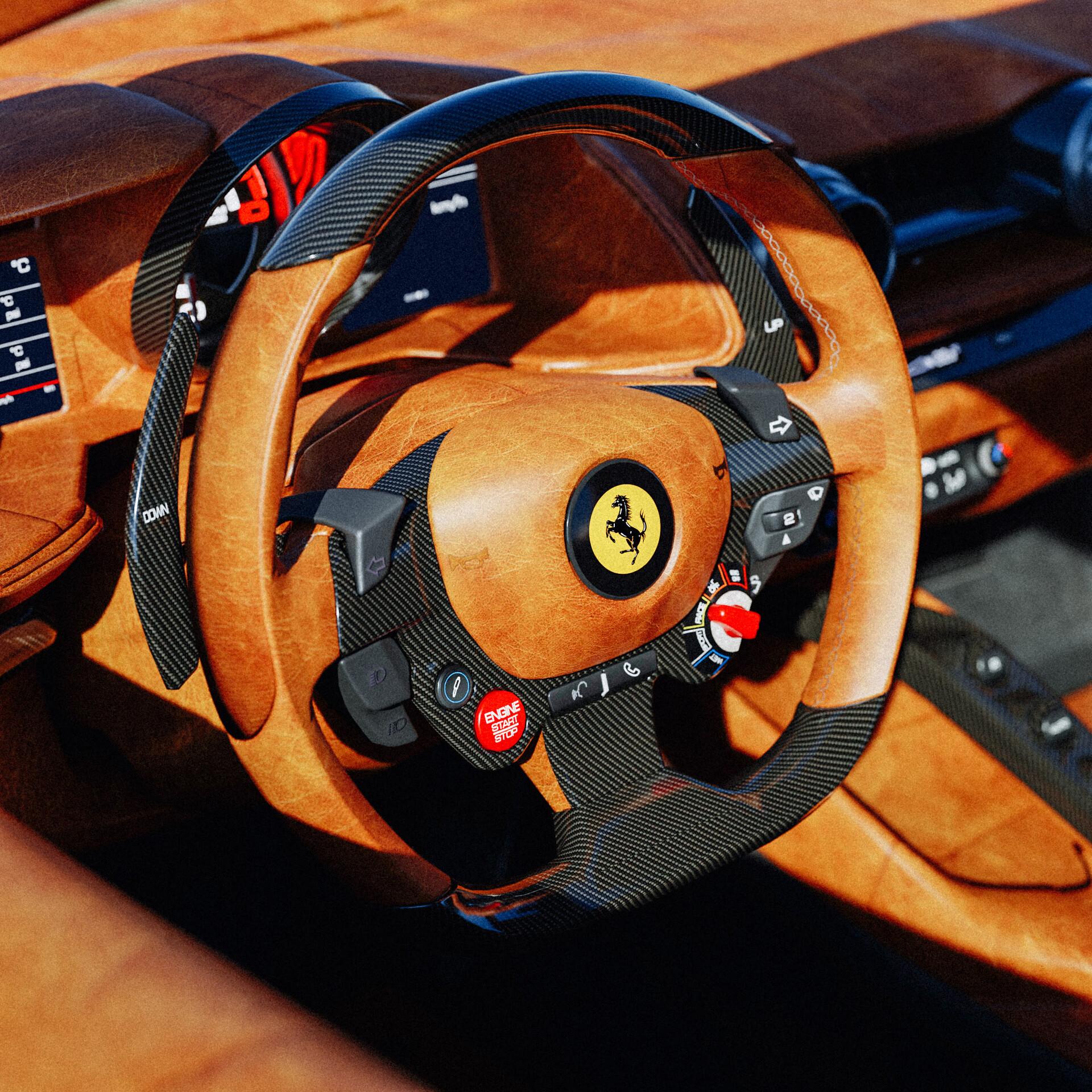 Artstation Ferrari 812 Tailor Made Interior Wip Trestonchen