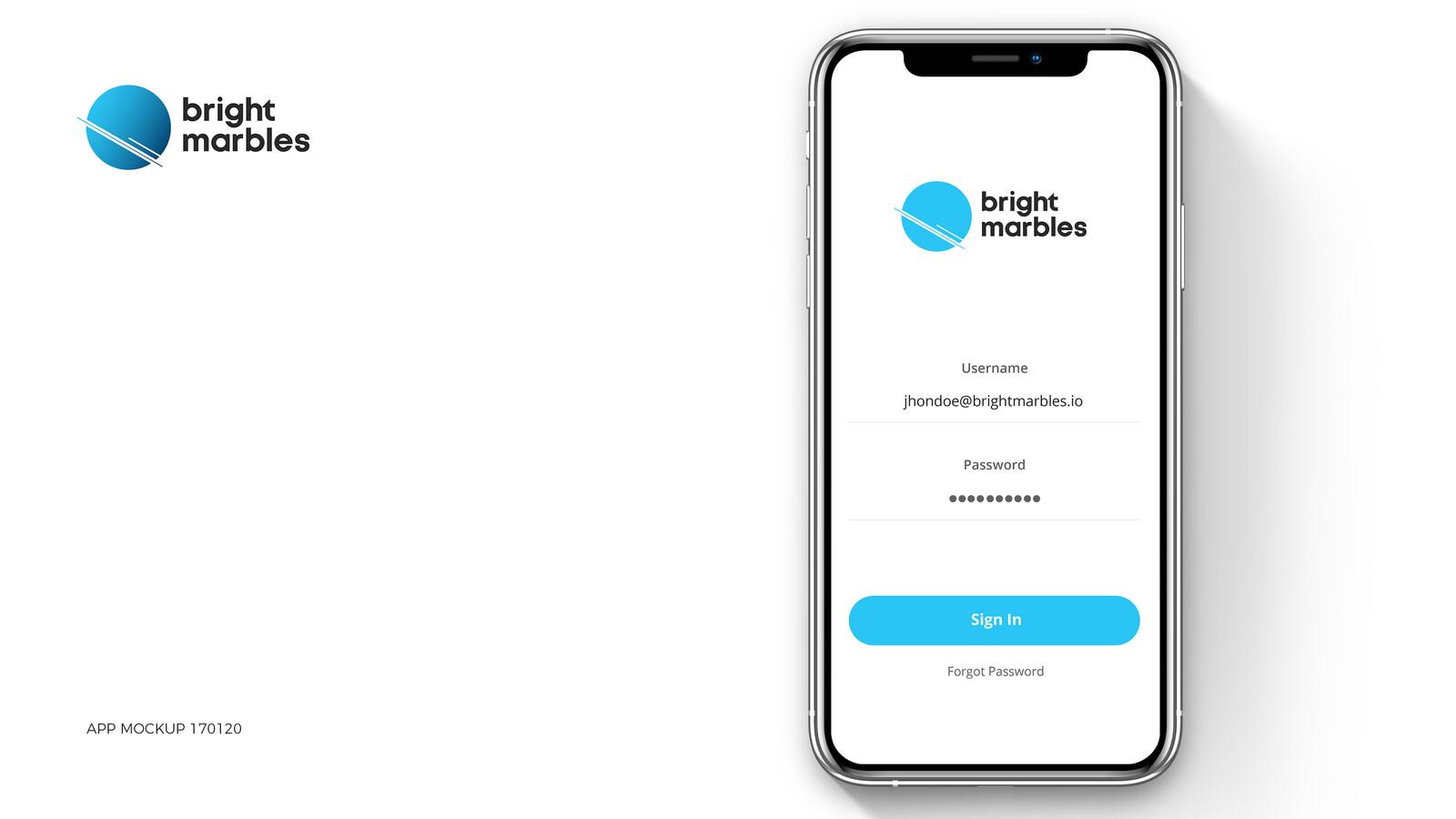 UI Vacation App - Bright Marbles