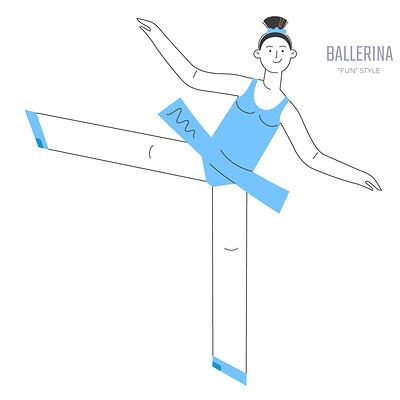 Stanislav batalov 0389 fun style ballerina inline wide