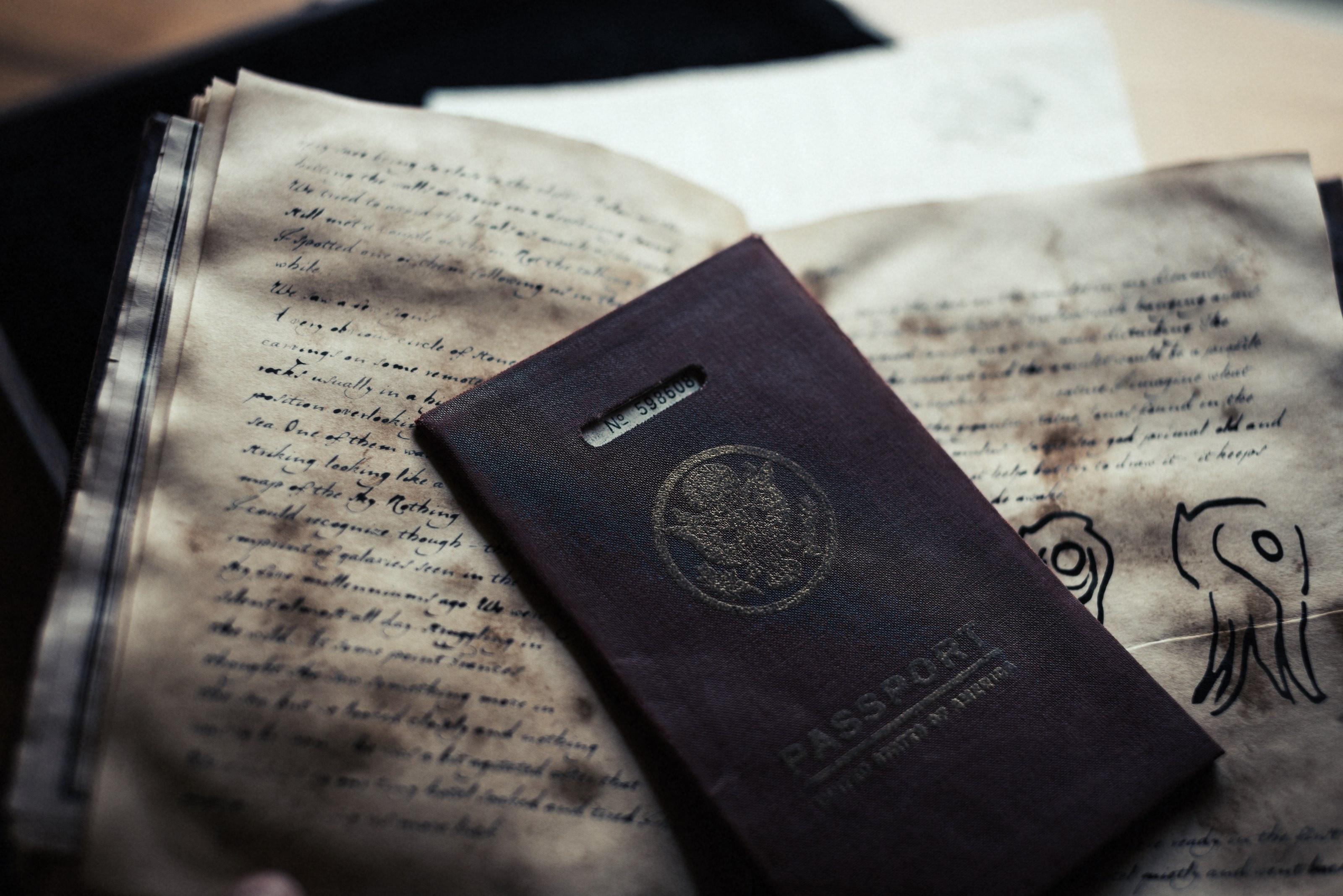 A distressed passport. Photo by Cian McKenna
