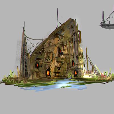 Benedick bana post apocalyptic building