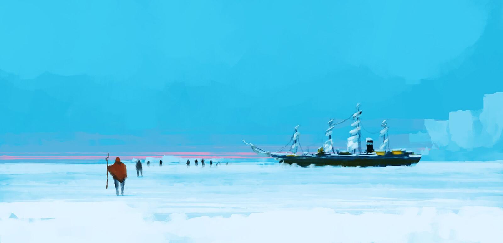 Inktober2019 - Day 4 - Freeze