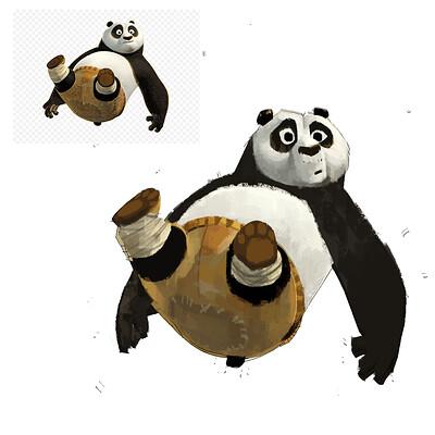 PO  the Panda ( Kung Fu Panda )