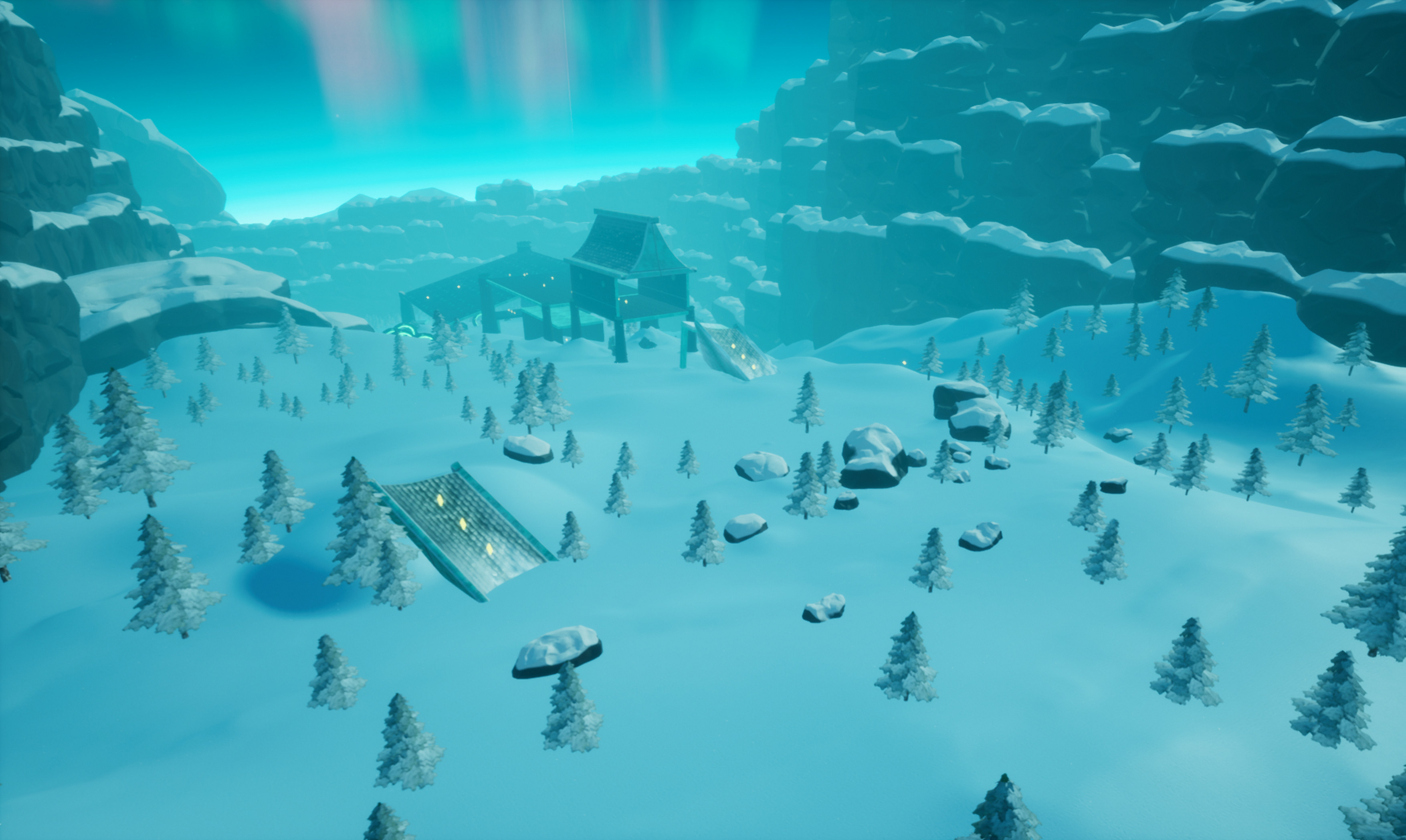 Overview of the first section in the game.