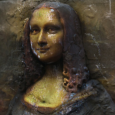 Surajit sen lisa2 2 digital sculpture surajitsen oct2020 l