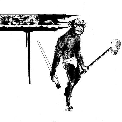 Andrej menace monkey