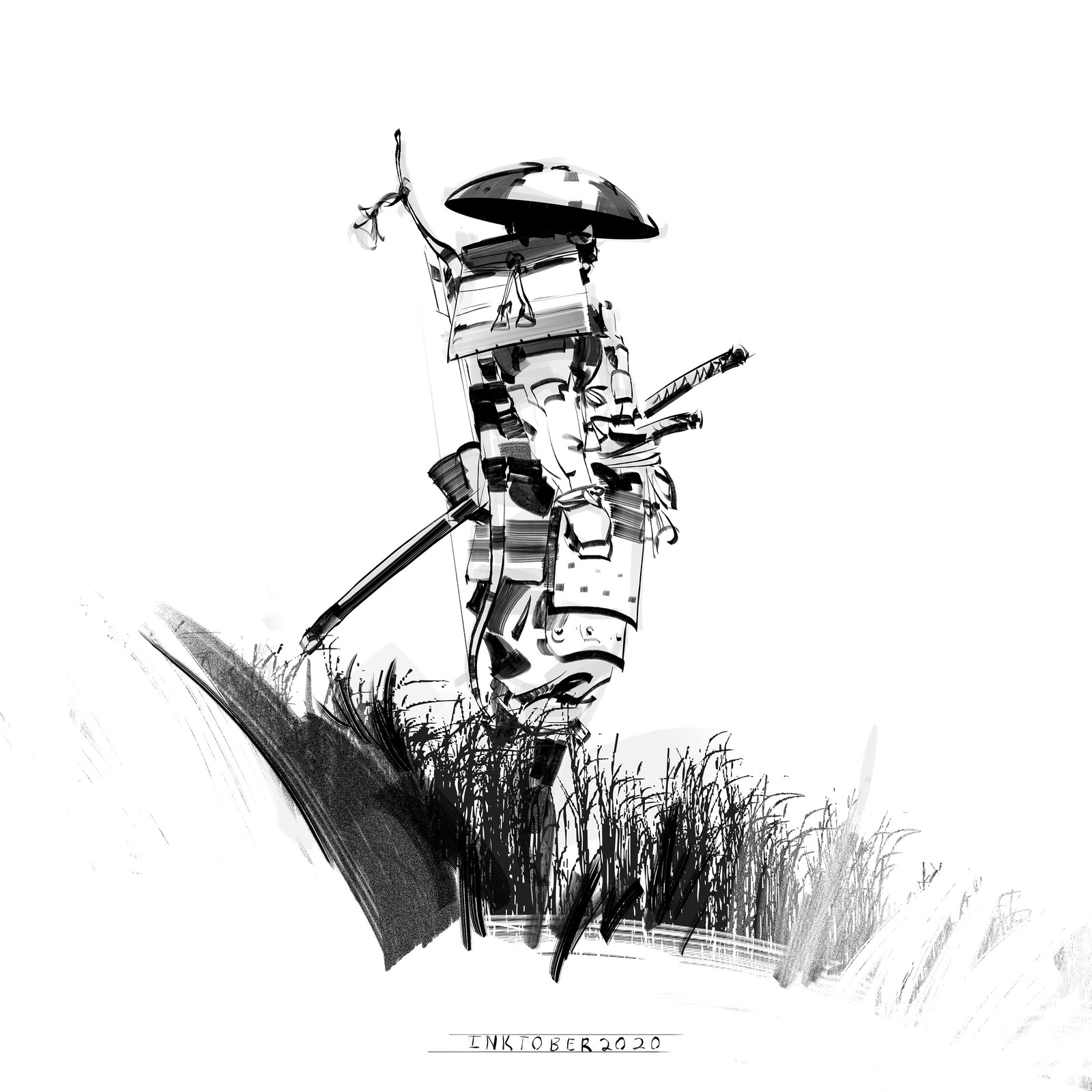 Inktober, Ghost of Tsushima addition! WEEK 1