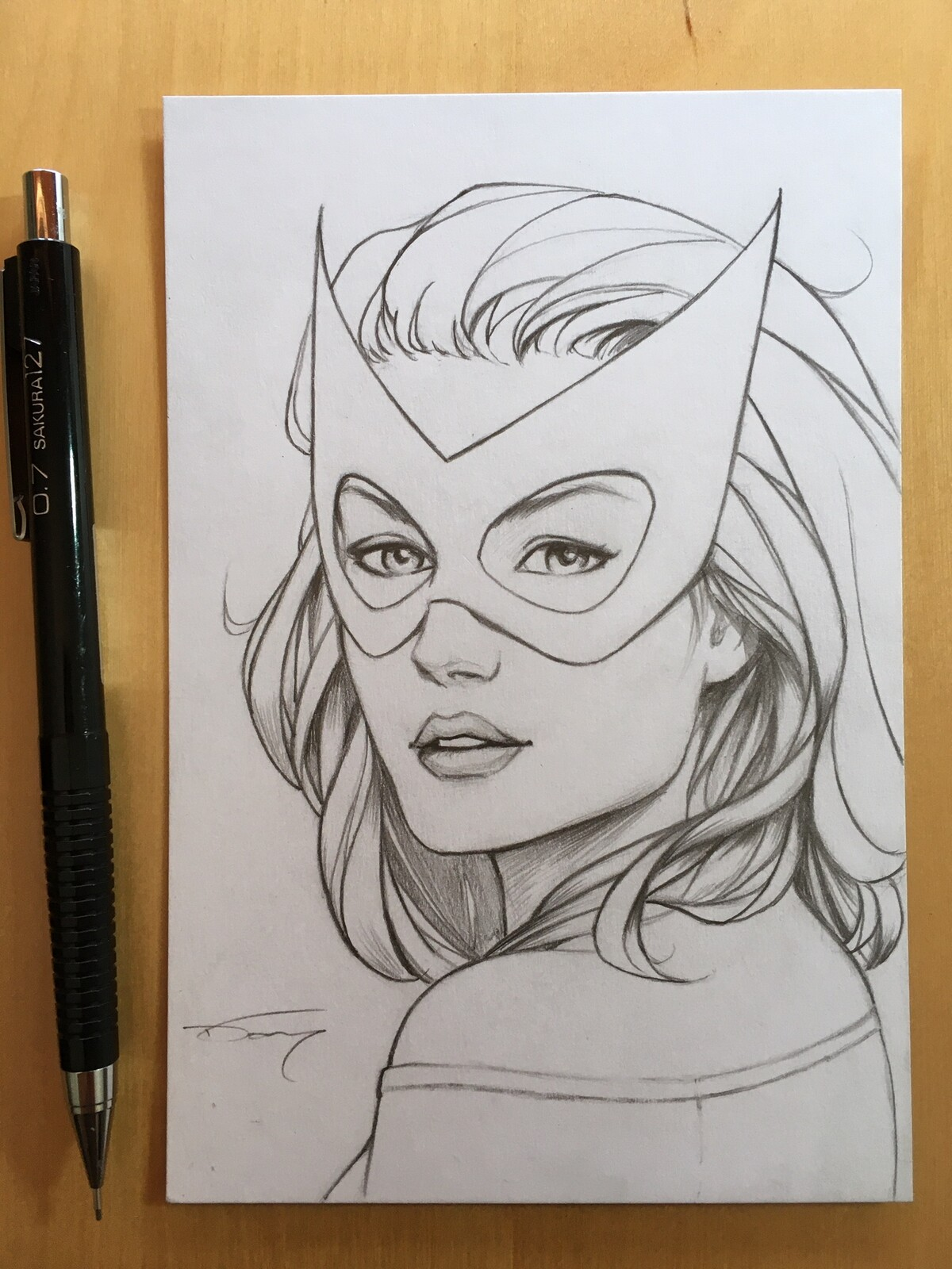 Marvel Girl from the X-Men. Drawn in pencil on 100 lbs white card stock 4 x 6 inch  If you're interested in a commission like this one, please visit my shop for more details! https://donnydtran.bigcartel.com/