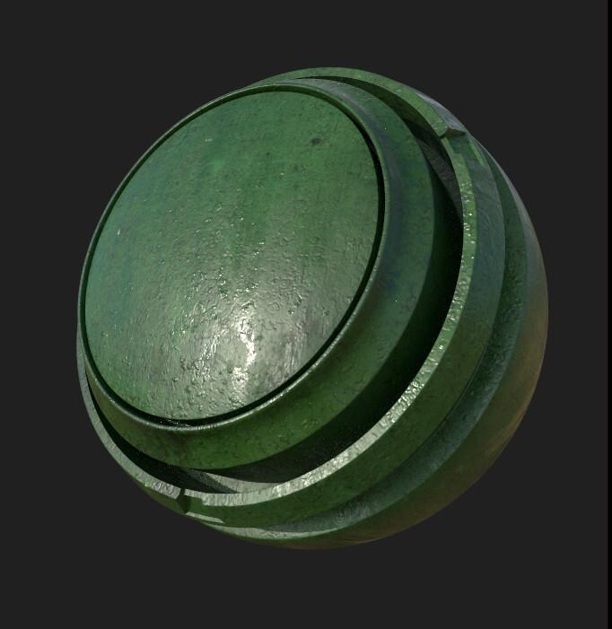 Substance Designer | Green Painted Iron