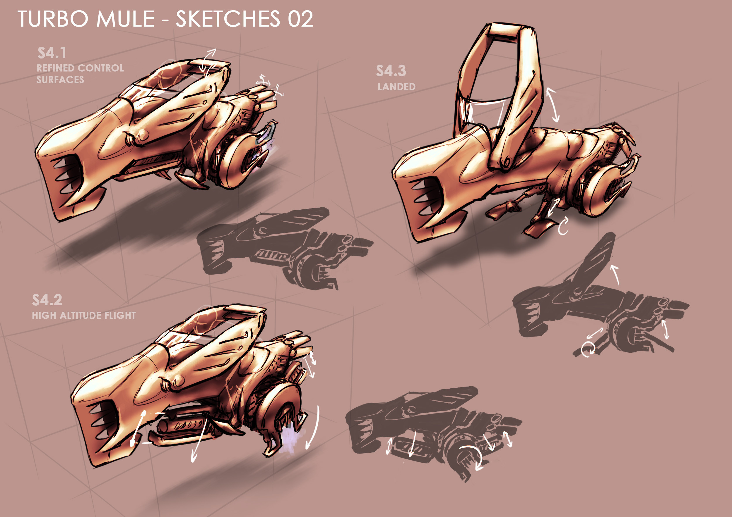 More sketches of the final design