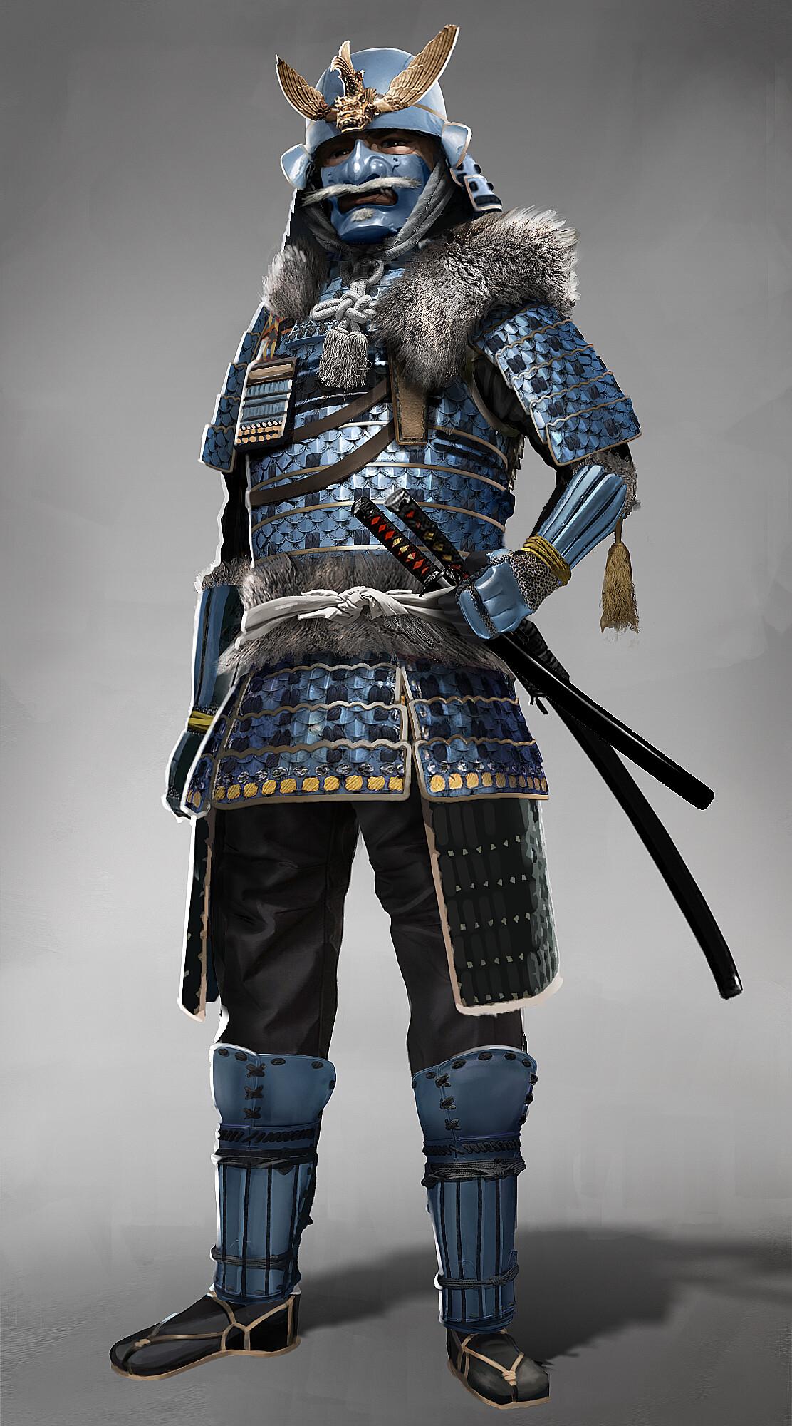 Artstation Winter Samurai Character Design Karl Ehrnstrom