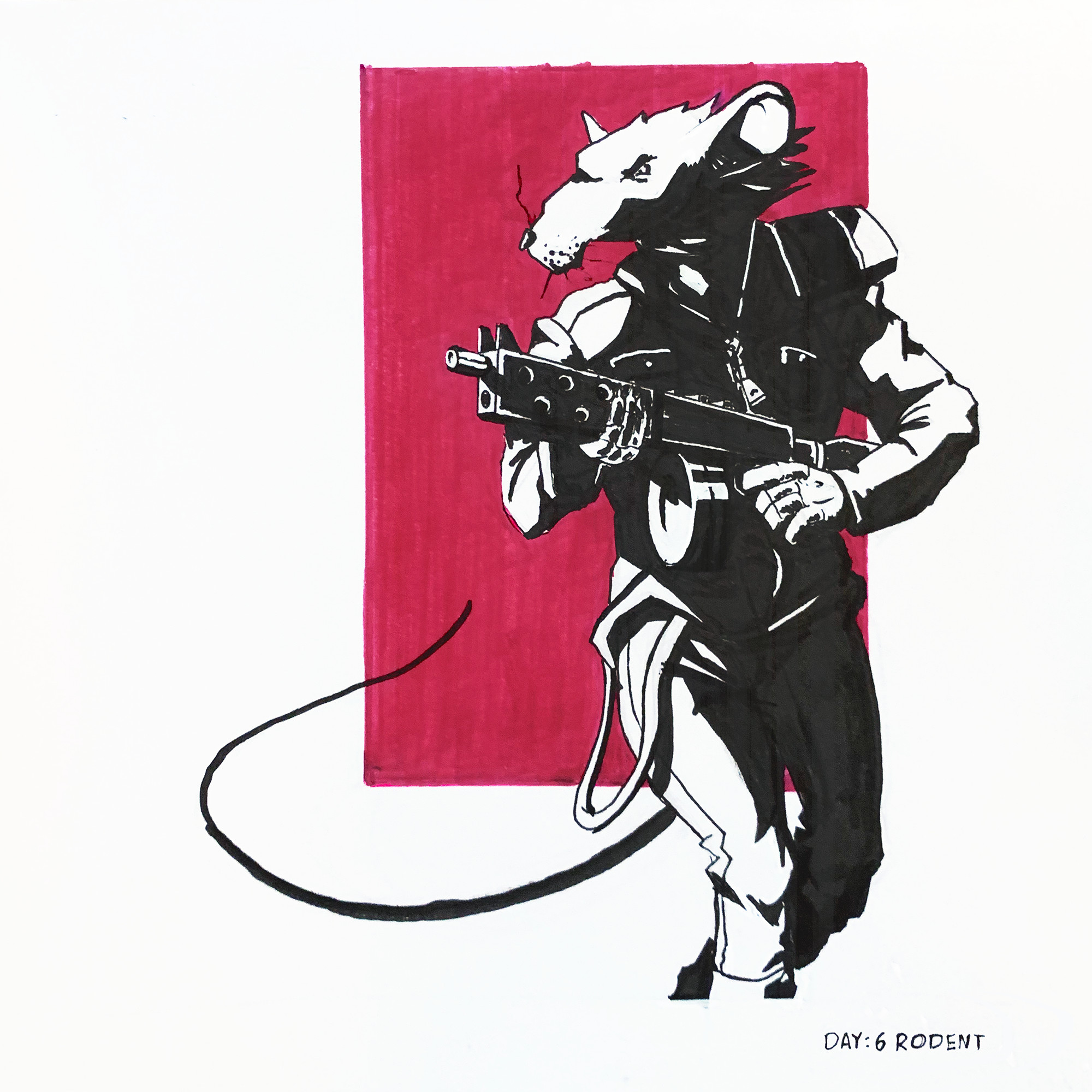 (Day 6: Rodent) He's comin' to control some pests.