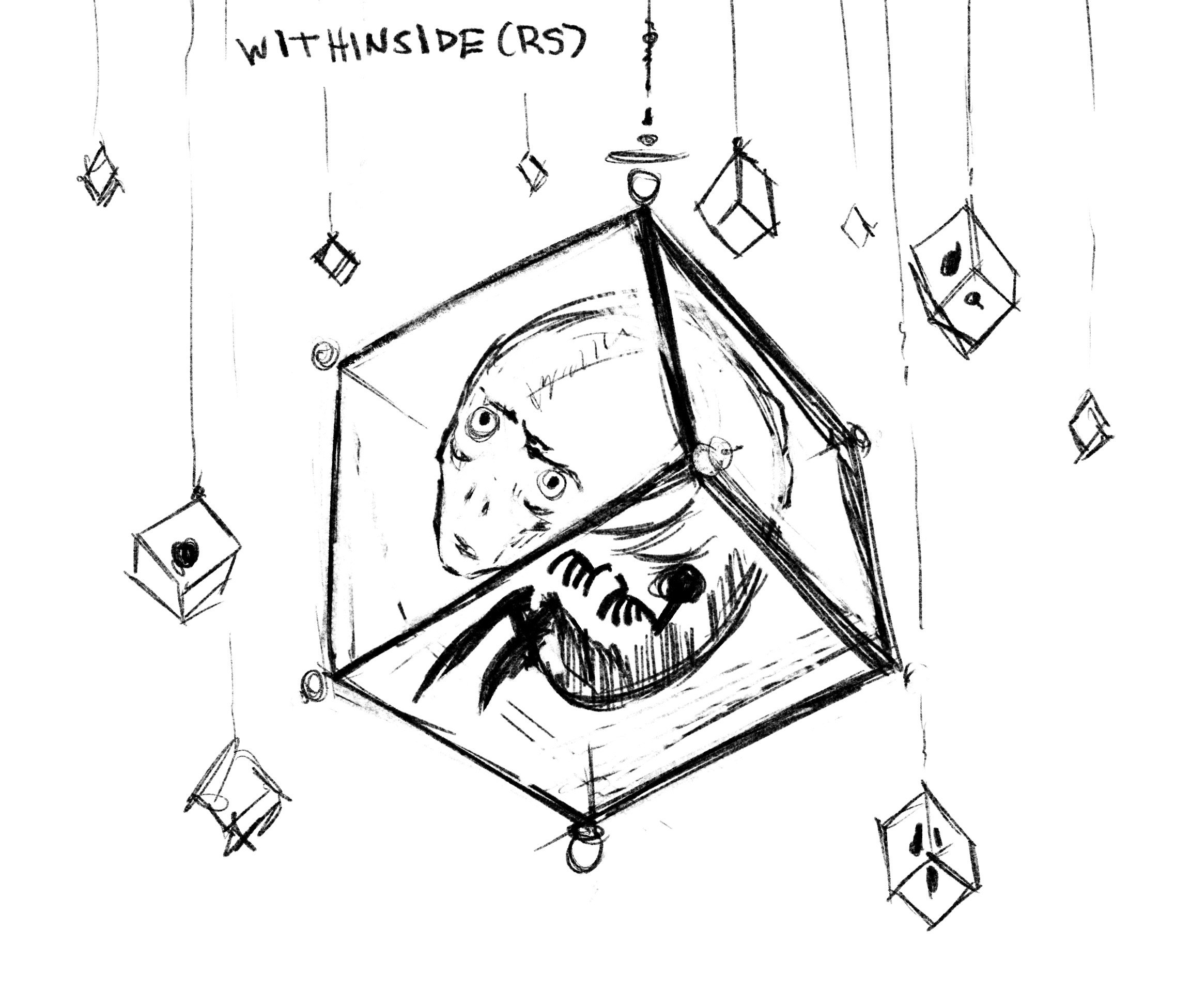 Procreate idea sketch on Ipad before any 3D work.