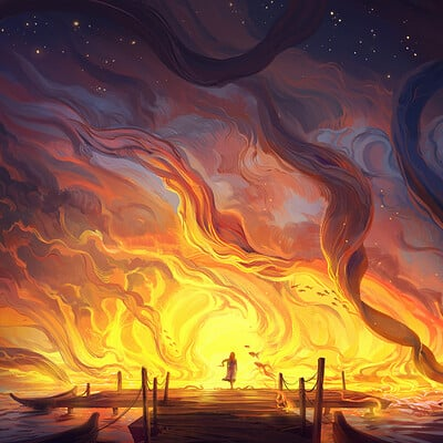 Jorge jacinto the ocean is on fire red
