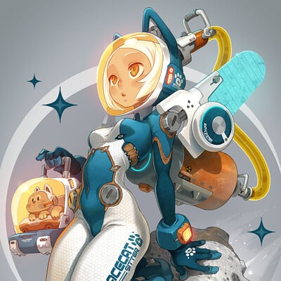 Xa on the moon space girl ld2