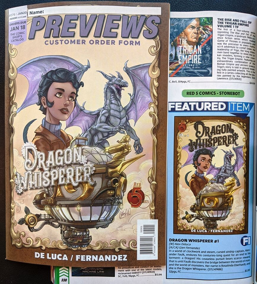 Cover featured as main cover for Previews magazine (January 18th 2020)