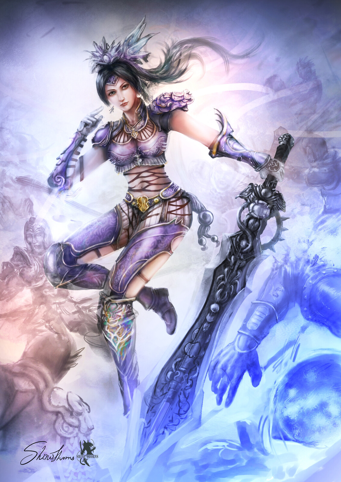 Female warrior 中國輕甲 武將