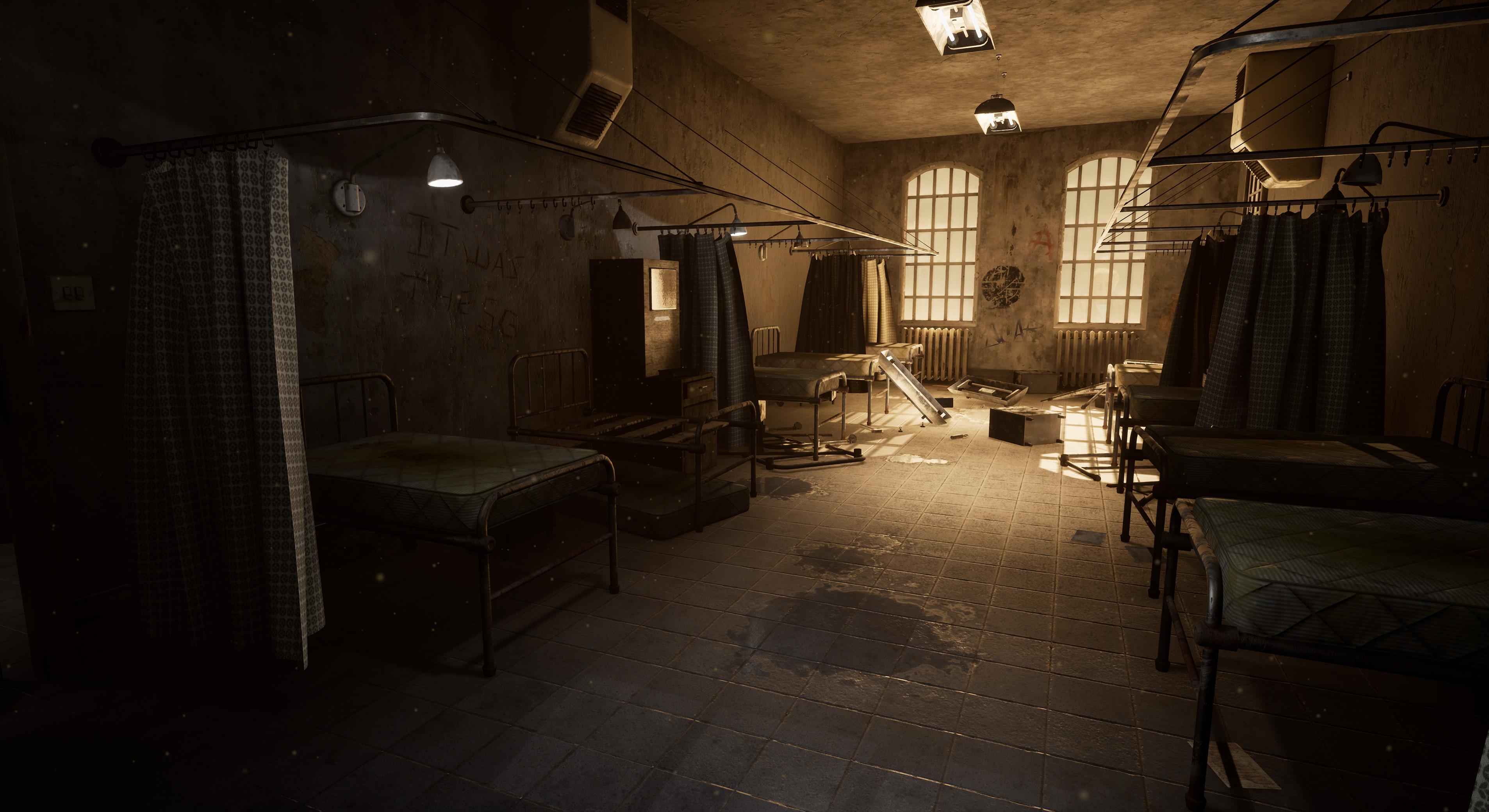 Artstation Abandoned Asylum Environment Tom Channelle